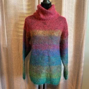 Casual Corner multicolor turtleneck sweater